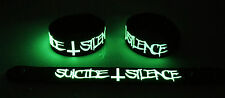 SUICIDE SILENCE NEW! Glow in the Dark Rubber Bracelet Wristband Wake Up gg130