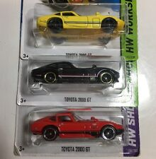 Hot Wheels TOYOTA 2000GT Lot of 3 Color Variations Rare!