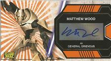 "Star Wars Clone Wars Widevision - Matthew Wood ""General Grievous"" Autograph Card"