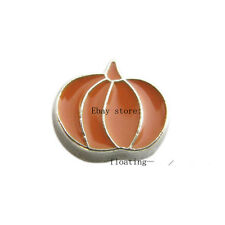 10pcs Halloween Pumpkin Floating Charms for Glass Locket Free Shipping FC108