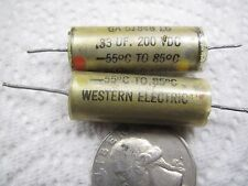 VERY RARE  WESTERN ELECTRIC  0.33uf 200V   PAPER IN OIL CAPACITOR