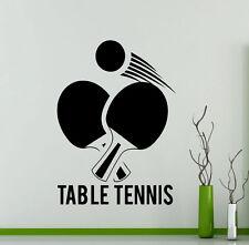 Table Tennis Wall Decal Ping Pong Gym Vinyl Sticker Art Decor Sport Mural 12te