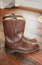 JUSTIN WOMEN'S BROWN LEATHER RIDING BOOTS SIZE 9
