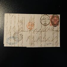 GRANDE BRETAGNE GB N°33 3d PINK PLANE 10 LETTRE COVER 1973 LONDON TO DUNKERQUE
