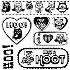 Owl Clear Stamps - Hoo Do You Love? from Sassafras Lass