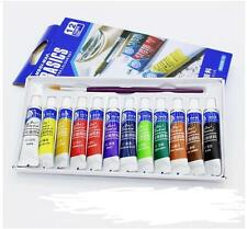 Painting Acrylic Free Paint Brush Color Set 12 Color Draw Paint Tube  5ml