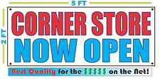 CORNER STORE NOW OPEN Banner Sign NEW Larger Size Best Quality for the $$$