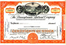 Broker Owned Stock Certificate: Credit Suisse, payee; Pennsylvania RR, issuer