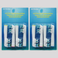 8 X GENERIC Dual Clean Toothbrush Heads Fit For Oral-B Braun Vitality EB SB-417A