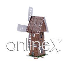 Molino Solar Puzzle 3D Juguete Ecológico a1595