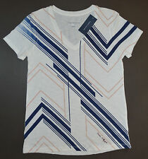 NWT Women's TOMMY HILFIGER Short Sleeve Beach Shirt, V-Neck, S, Small, White