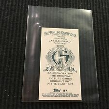 2016 TOPPS ALLEN GINTER JAY OAKERSON *NNO BACK MINI /50*  COMEDIAN