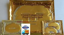 (10+10+10) 10 Gold Facial Mask+10 Lips+10 Pairs Eye Pad Pilaten Lot