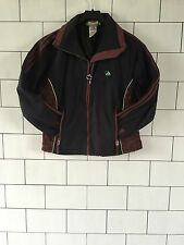 WOMENS ADIDAS URBAN RETRO VINTAGE ATHLETIC THERMAL JACKET COAT SIZE UK SMALL
