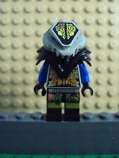 Lego Minifig ~ Blue Alien w/Gray Printed Helmet Insectoid Robot UFO Droids Space