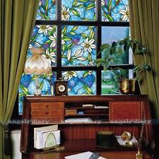 45cm*150cm Orchid Self Adhesive Window Film Stained Glass Home Privacy DIY
