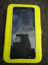 iPhone Clear Plastic FrontWallet/ID/Credit Card Leather Case Cover Holder Yellow