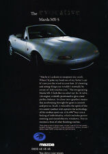 1993 Mazda Mx-5 Mx5 Euro - Classic Car Advertisement Print Ad J64