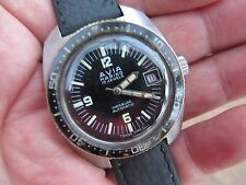 VINTAGE AVIA MARINO MEN'S DIVERS WRISTWATCH - INCABLOC AUTOMATIC -NICE BLUE DIAL