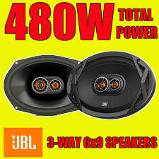 "JBL 6""x9"" 6x9 480W Total power, 3-way car rear deck oval shelf speakers new pair"
