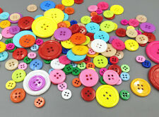 DIY 50g Random Various Color Size Round Resin Sewing Buttons Scrapbook 0.9-30MM