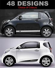 toyota IQ side stripe decals sticker fit toyota IQ choice of design