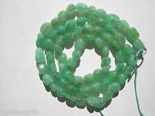 "Natural Chrysoprase Nugget Gemstone Beads - 4-5.5x6-7mm - 16.5"" strand"