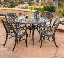 Patio Dining Set Traditional Outdoor Lawn Furniture Garden Table Deck Chairs 5pc