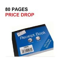 DUPLICATE RECEIPT BOOK Numbered Pages 1-80 + 2 Sheets Carbon Paper Reciept bn