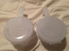 SET of 2 SMALL TUPPERWARE FORGET ME NOT TOMATO ONION KEEPERS CLEAR