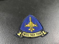 ECUSSON  - BRODE EMBROIDERED PATCH MILITAIRE AIR SWISS TIGER TEAM
