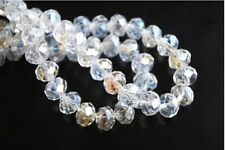 20pcs Crystal Faceted Rondelle Clear AB Glass Loose Bead Free Shipping 14mm