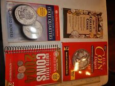 4 UNITED STATES COINS STATE QUARTERS WHITMAN DIGEST RED BOOK YEOMAN GUIDEBOOK