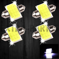 4X 6000K White COB LED Map/Dome Interior Reading Light Bulb 31MM Festoon DE3175