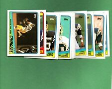 1988 Topps Football SAN DIEGO CHARGERS Complete Team Set