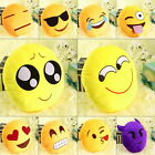 Emoji Emoticon Yellow Round Cushion Stuffed Pillow Plush Soft Toy Decor SY