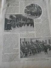 La Remise des Diplômes en Indo China Indo china Old Print 1911