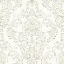 Wallpaper Candice Olson Tasara Paisley Damask Taupe Gray Beige on Pearl Cream