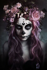 DIA DE MUERTOS - SEXY ART POSTER - 24x36 DAY OF THE DEAD GOTHIC 10585