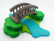 Wooden Dolls House Furniture Bridge & river puzzle Set Fits ELC/Plan toys houses