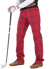 Mens plaid golf pants for men stretch comfortable tartan check vintage trousers