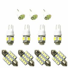 11PCS White LED Lights Interior License Plate Kit T10 & 31mm Map Dome For Honda