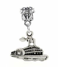 Paddle Wheel Riverboat Mississippi River Cruise Boat Bead for Charm Bracelet