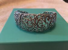 CAROLYN POLLACK Silver Filigree Rope Bracelet Size SMALL