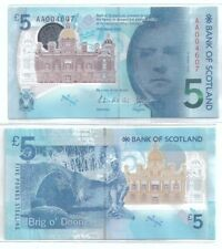 Bank of Scotland £5 POLYMER In Presentation Folder Only 1000set UNC 2016