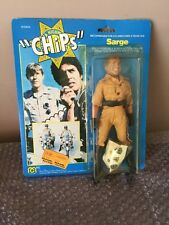 1977 MEGO CHIPS SARGE ACTION FIGURE IN ORIGINAL FACTORY SEALED PACKAGE