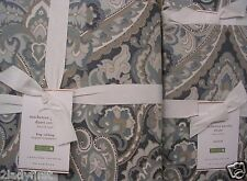 Pottery Barn Mackenna Paisley KING Duvet and 2 Standard Shams ~ BLUE