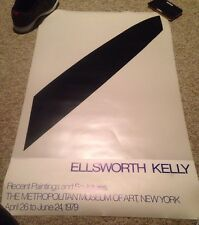 Vintage Ellsworth Kelly Poster 1979 Metropolitan Museum Exhibition