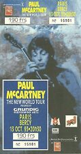 RARE / TICKET DE CONCERT - PAUL McCARTNEY ( BEATLES ) LIVE PARIS 1993 / LIKE NEW