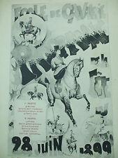 programme ecole de cavalerie  fete du cheval 1899 cirque famille  cody
